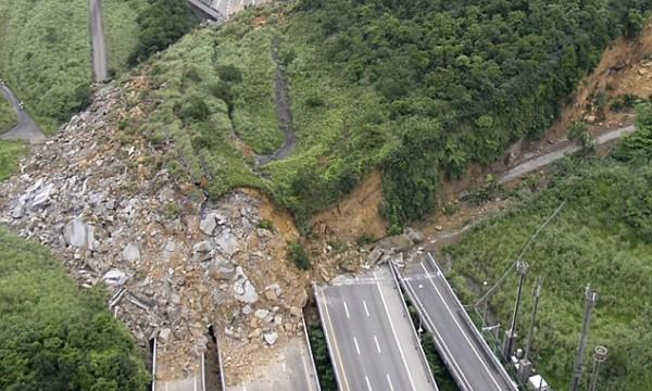 Erdbebeninduzierter Erdrutsch in Taiwan 2010